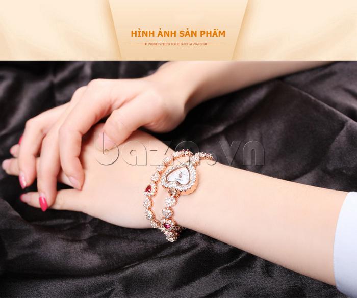Đồng hồ nữ mặt trái tim Vinoce V633248G hình ảnh sản phẩm