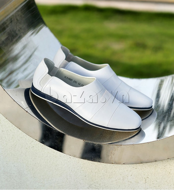 Giày da nam gót chun Olunpo CCY1505 màu sắc lôi cuốn
