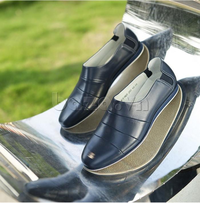 Giày da nam gót chun Olunpo CCY1505 trang nhã
