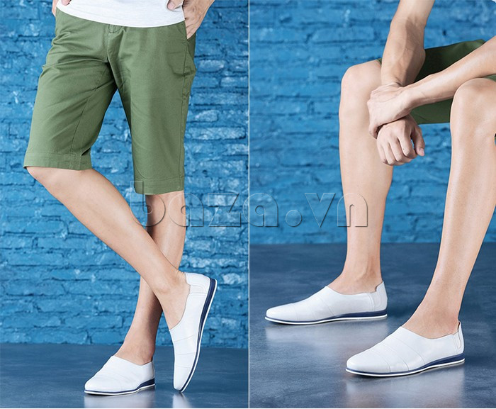 Giày da nam gót chun Olunpo CCY1505 lịch lãm