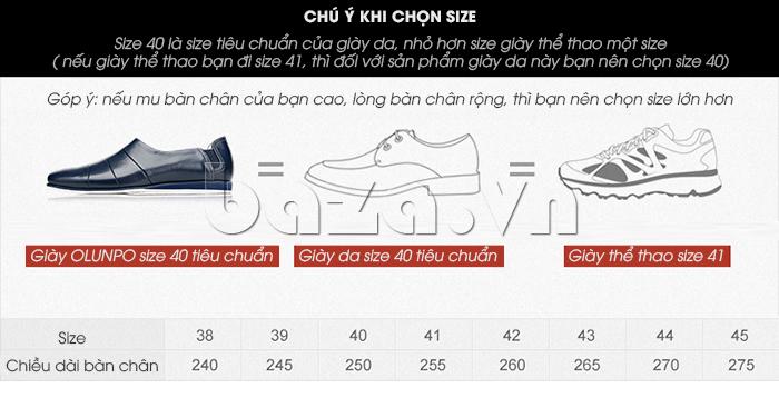 Gợi ý chọn Giày da nam gót chun Olunpo CCY1505