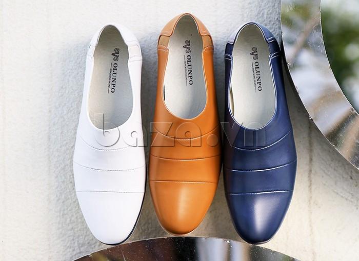 Giày da nam gót chun Olunpo CCY1505 đa dạng sắc màu