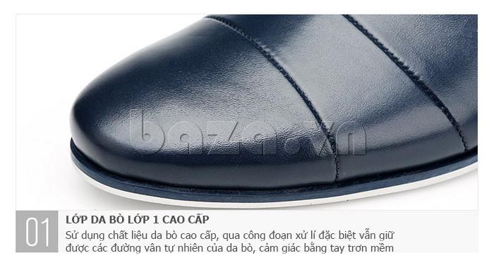 Giày da nam gót chun Olunpo CCY1505 - da bò cao cấp