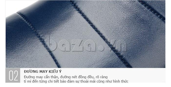 Giày da nam gót chun Olunpo CCY1505 - đường may kiểu Ý