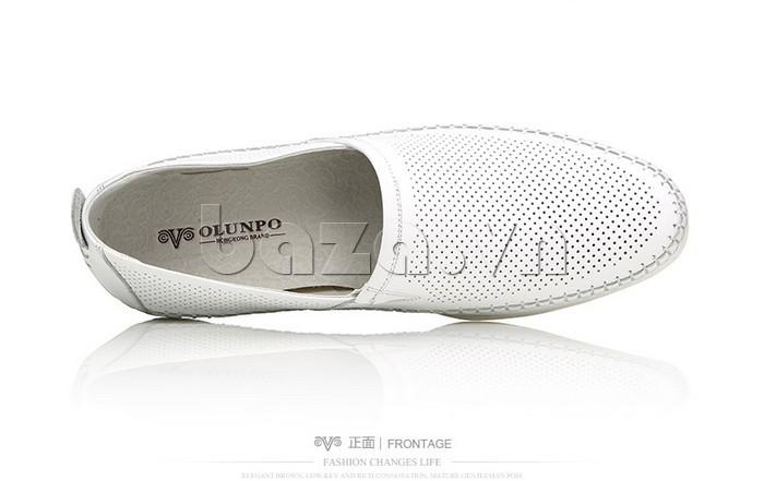 Giày nam Olunpo XCY1503 trắng ấn tượng
