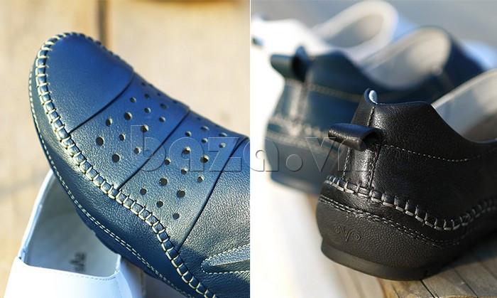 Giày lười nam da thật đục lỗ Olunpo XHT1502 - hoàn hảo từ mọi góc nhìn