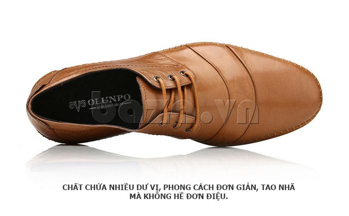 Giày da nam Olunpo QABA1410 đường may tinh tế