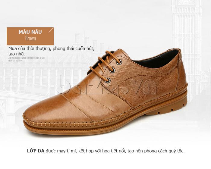 Giày da nam Olunpo QABA1410 phong thái cuốn hút