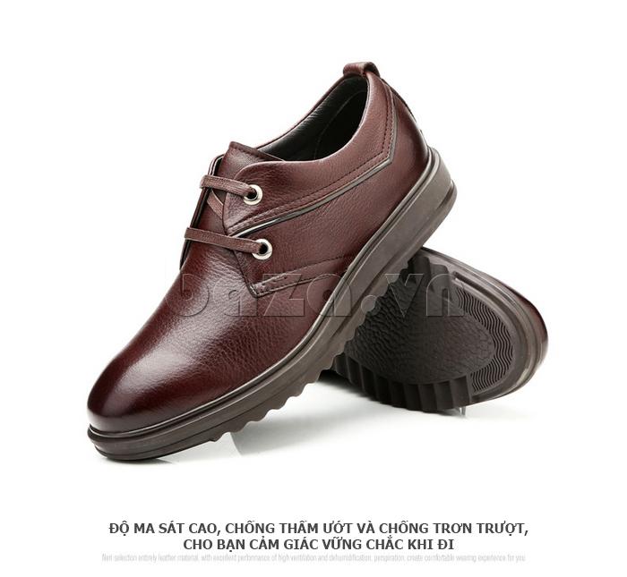 Giày da nam Olunpo QZK1404 chống trơn trượt