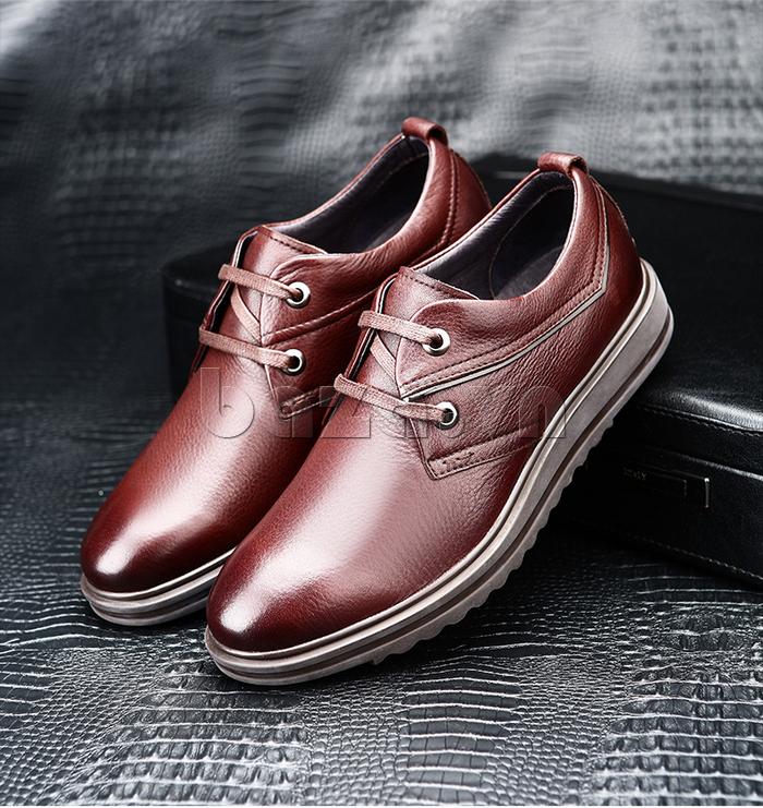 Giày da nam Olunpo QZK1404 màu sắc ấn tượng trẻ trung