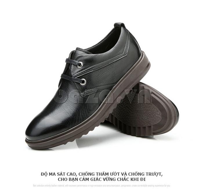 Giày da nam Olunpo QZK1404 giúp bạn vững chắc khi đi