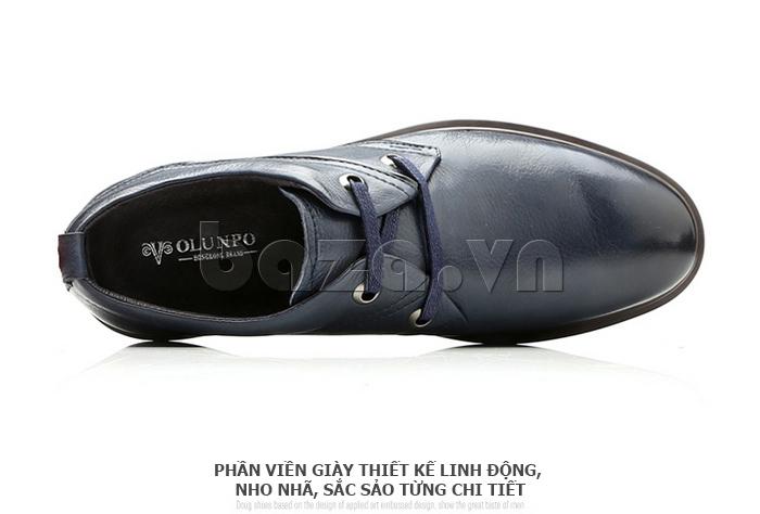 Giày da nam Olunpo QZK1404 giúp nam giới toát lên vẻ đẹp mạnh mẽ