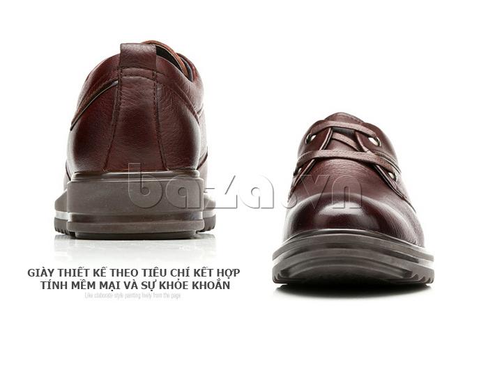 Giày da nam Olunpo QZK1404 sang trọng