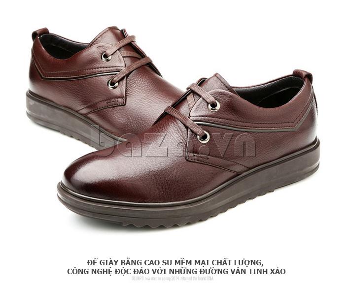 Giày da nam Olunpo QZK1404 có đế giày chất lượng