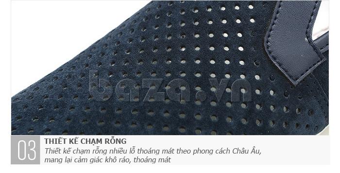 Giày nam Olunpo XMB1501 thiết kế da nhung ấn tượng
