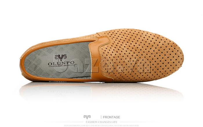 Giày nam Olunpo XMB1501 thiết kế viền chất lượng