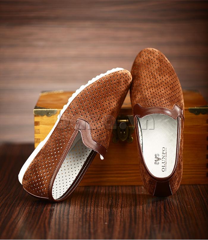 Giày nam Olunpo XMB1501 nâu