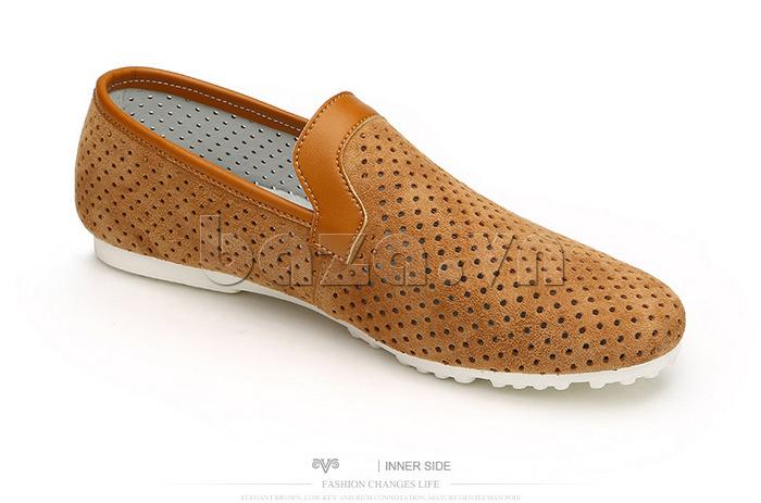 Giày nam Olunpo XMB1501 thiết kế viền ấn tượng