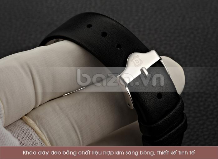 Khóa dây đeo đồng hồ bằng chất liệu hợp kim sáng bóng, thiết kế tinh tế