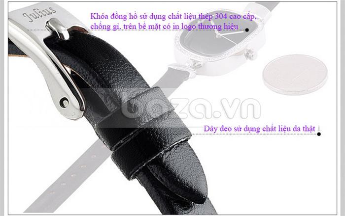 Đồng hồ nữ Julius JA-298 dây đeo bằng da thật mềm mại