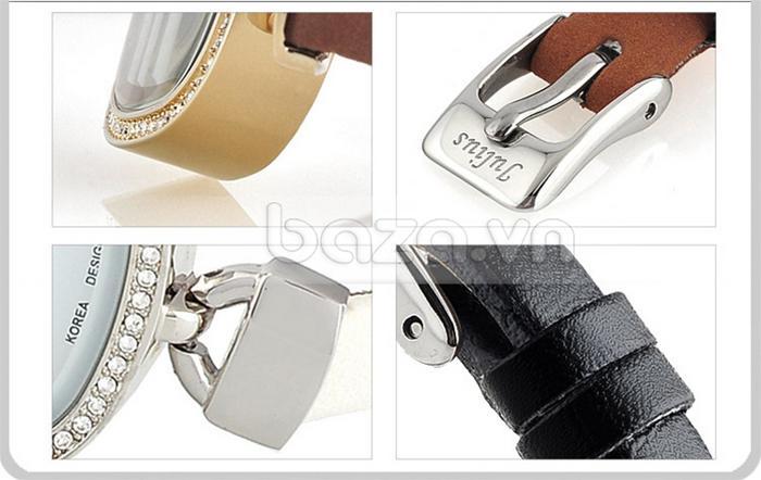 Đồng hồ nữ Julius JA-298 khóa gài khắc logo thương hiệu