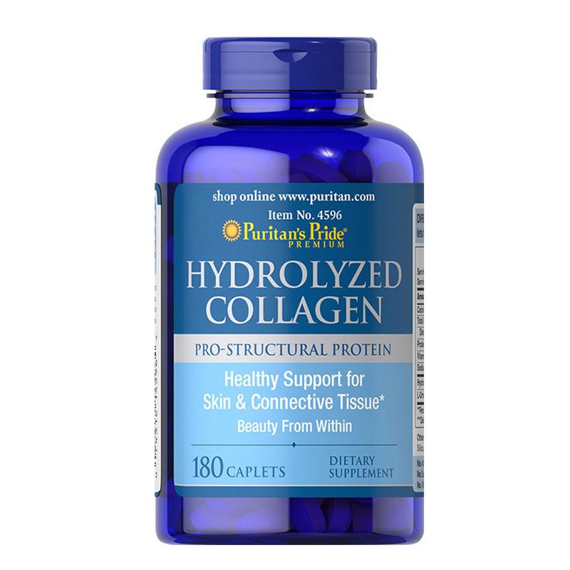 Viên uống Collagen thủy phân Puritan's Pride Hydrolyzed Collagen 1000mg