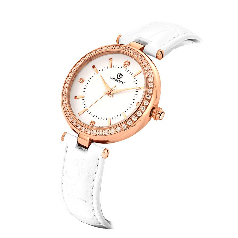 Đồng hồ nữ Vinoce viền chạm đá pha lê tinh xảo