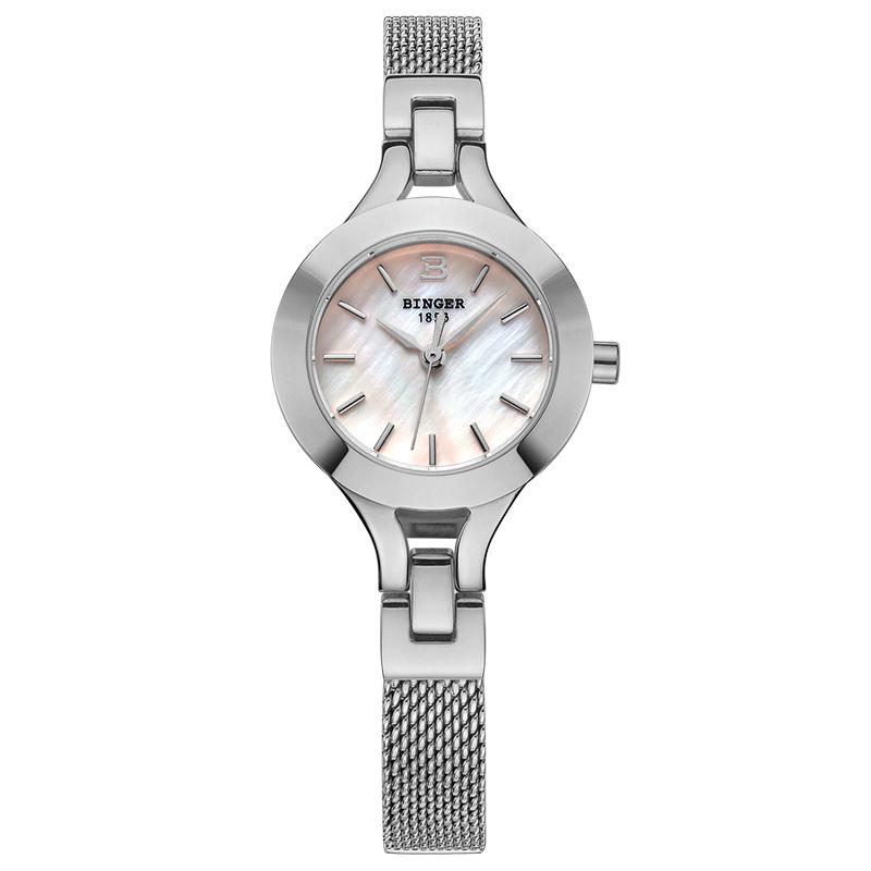 Đồng hồ lắc tay nữ mặt khảm trai Binger