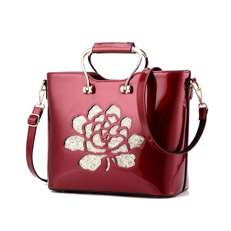 Túi Frame nữ khắc hoa hồng AGR
