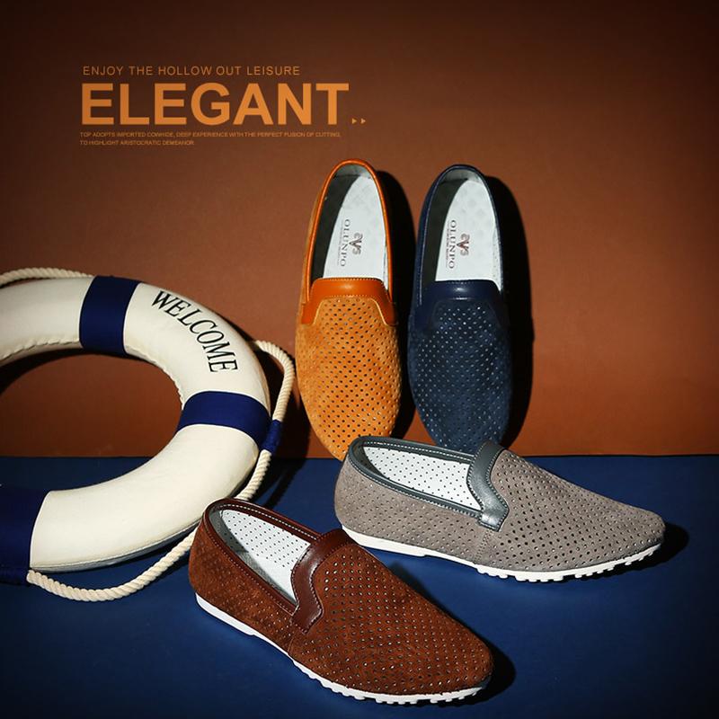 Giày lười nam da nhung Olunpo XMB1501