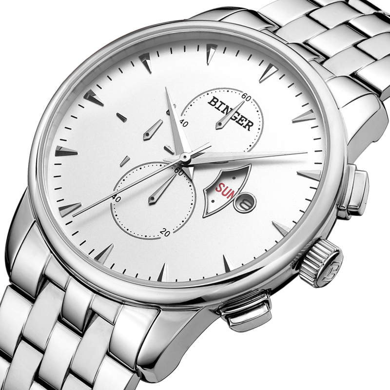 Đồng hồ Chronograph phong cách minimalism Binger