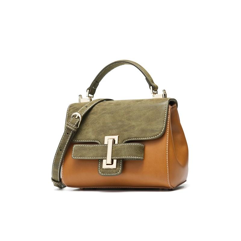Túi satchel phối màu đai khóa DooDoo