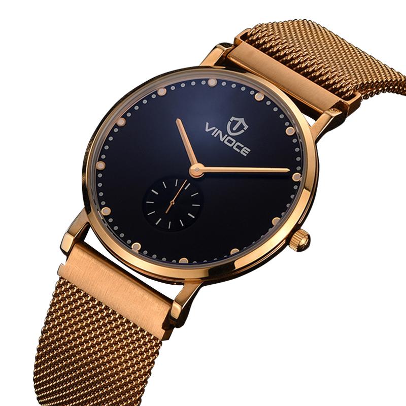 Đồng hồ nam siêu mỏng Vinoce style Retro