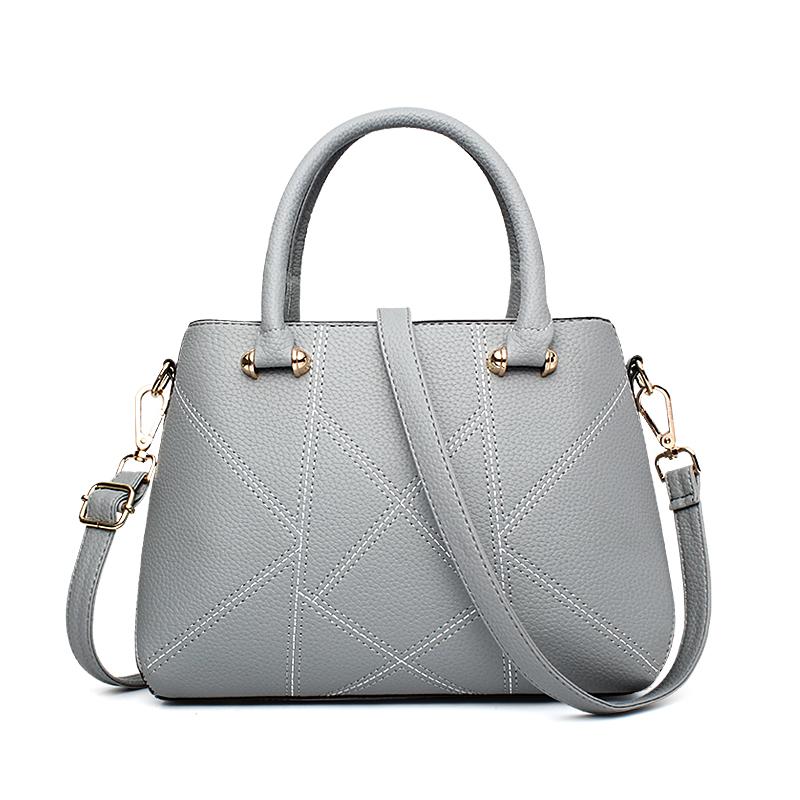 Túi xách Handbag chần chỉ hình học PDG