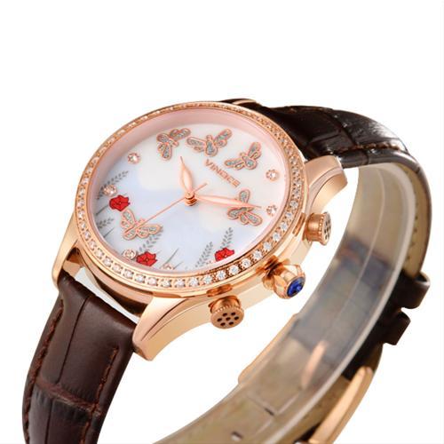 Đồng hồ nước hoa nữ viền pha lê Vinoce V6277L