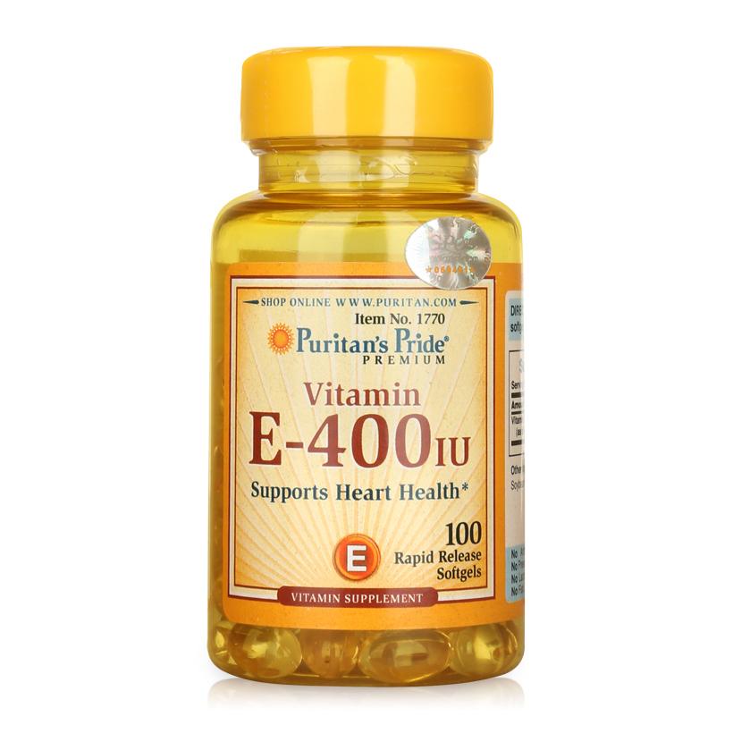 Viên uống bổ sung Vitamin E Puritan's Pride Vitamin E-400 IU 100 viên