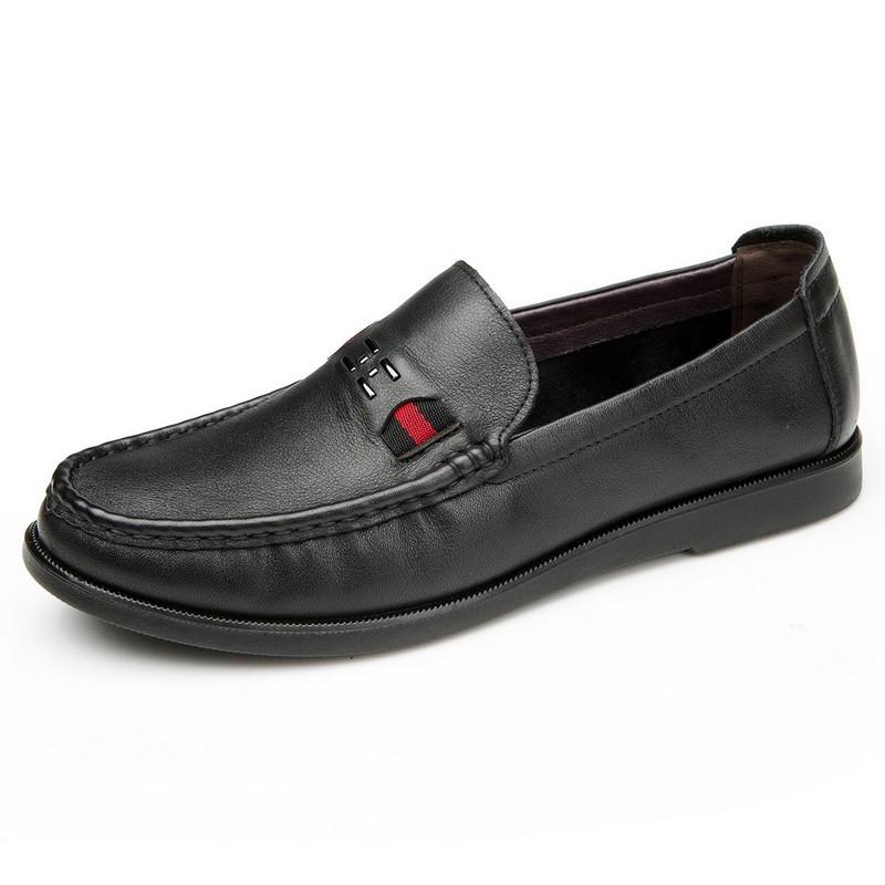 Giày Loafer da nam phối vải màu Olunpo