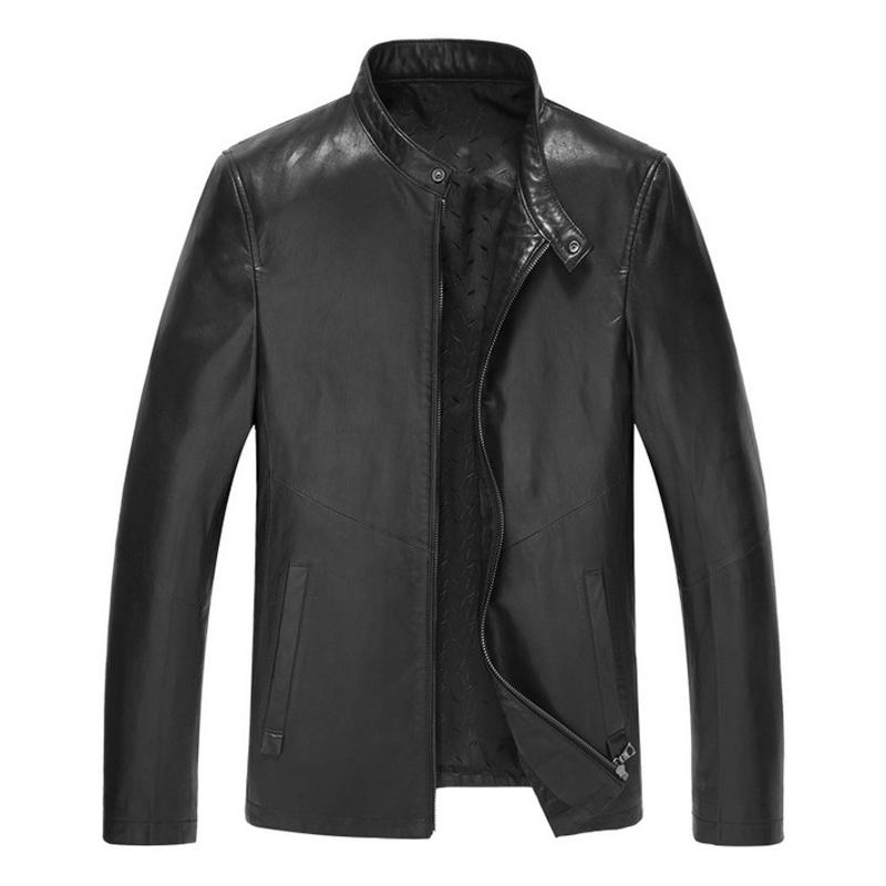 Áo Biker Jacket da dê cổ đứng đai khuy bấm NNA