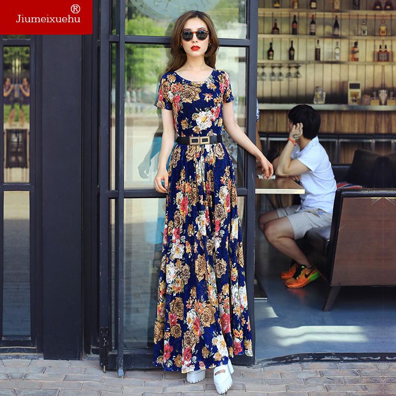 Váy maxi ren JM họa tiết floral