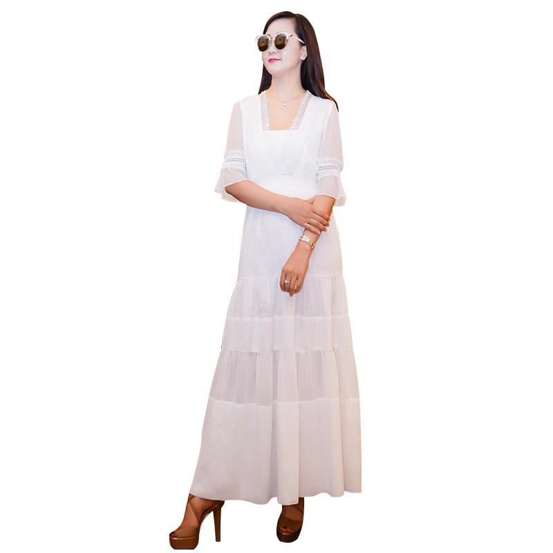 Đầm maxi tay loe phong cách bohemian