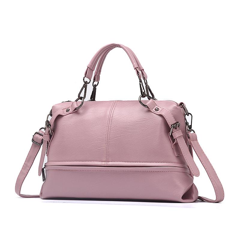 Túi Handbag quai đôi phối khóa ngang PDG