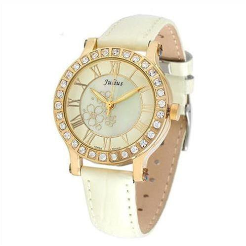 Đồng hồ nữ Julius JA486 nạm vân hoa tinh xảo