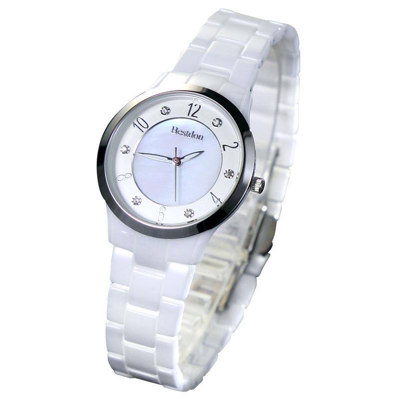 Đồng hồ nữ Bestdon mặt tròn khảm trai