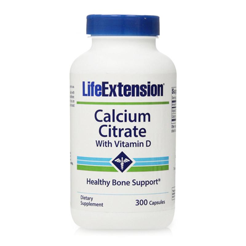 Viên uống bổ sung Canxi và Vitamin D Life Extension Calcium Citrate With Vitamin D