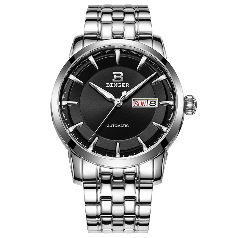 Đồng hồ cơ nam phong cách minimalism Binger