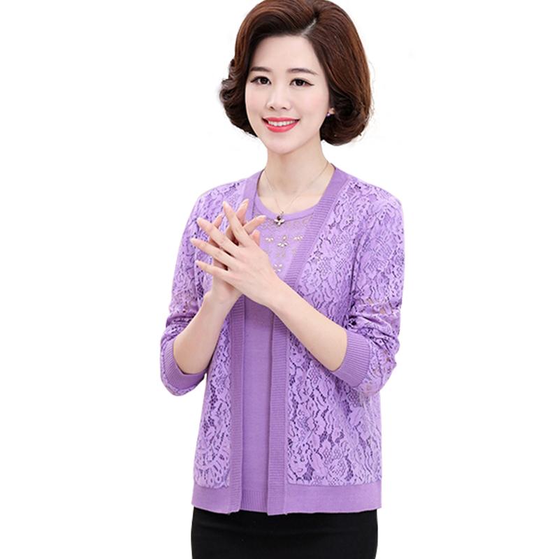 Bộ áo len đính đá kèm áo ren hoa dài tay khoác ngoài SMT