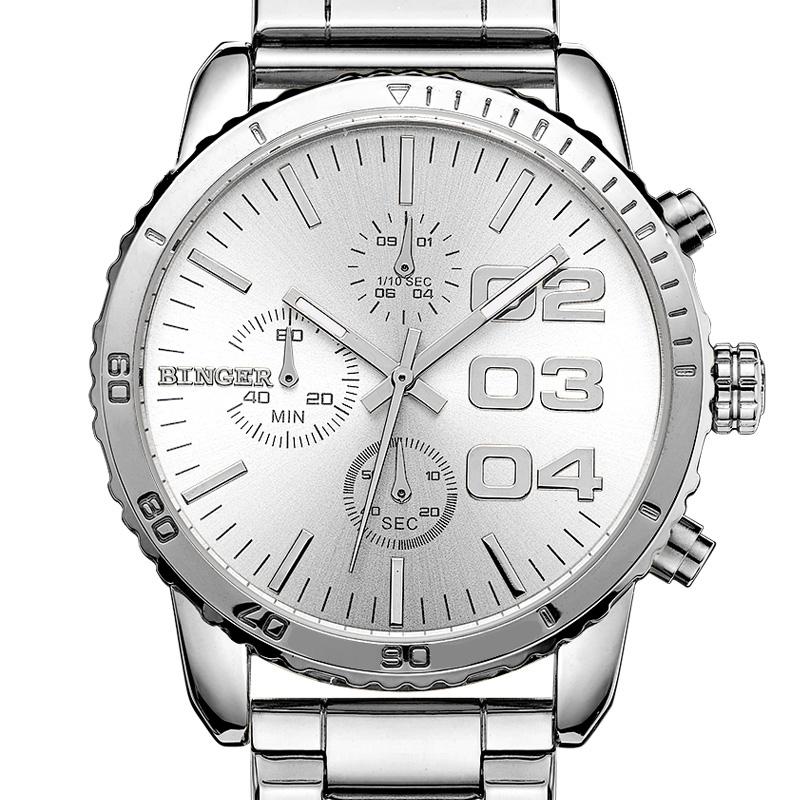 Đồng hồ chronograph nam Binger bánh xe tốc độ