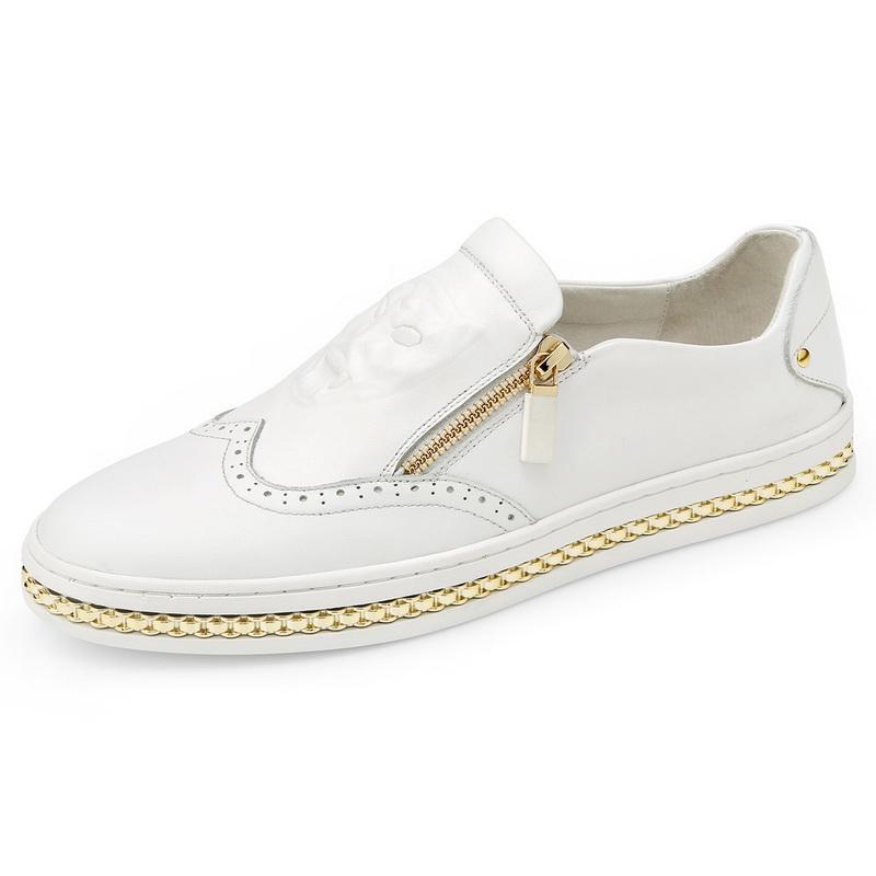 Giày lười mặt báo phối khóa Olunpo