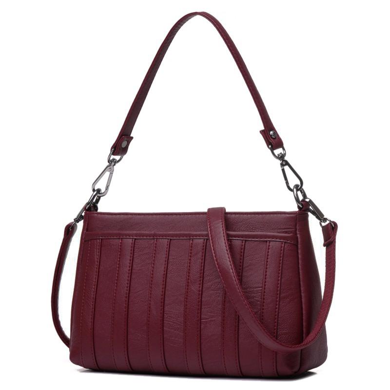 Túi Shoulder Bag 3 ngăn phối da sọc DFJL