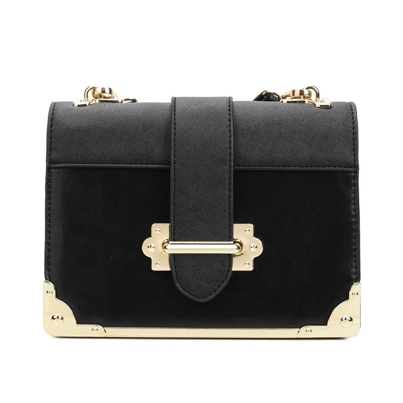 Túi hộp Messenger phối màu khóa gài Nobely